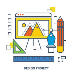 Concept of design project vector