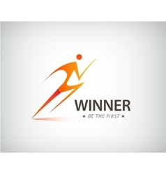 Corporate success health winner logo template vector