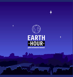 earth hour movement vector image