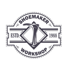 emblem shoemaker work vector image