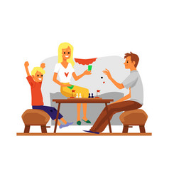 Family domestic joint recreation and leisure flat vector