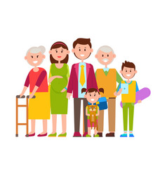 family together big poster vector image