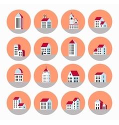 Flat city vector image