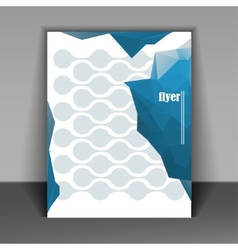 Flyer layout vector