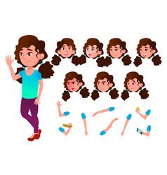 Girl child kid teen schoolchild vector