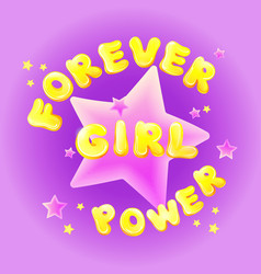 Girl power birthday greeting card vector