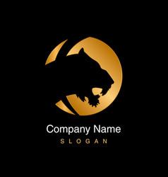 Gold tiger logo vector