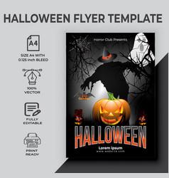 Halloween party flyer design vector