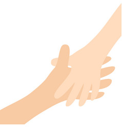 handshake two hands arms reaching to each other vector image