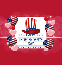 Happy independence day a greeting card vector