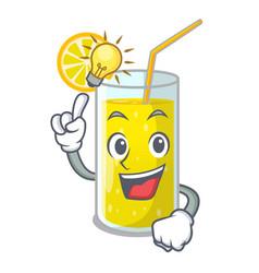 have an idea fresh lemon juice in glas cartoon vector image