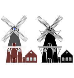 Hazewind colored without outline gieten city vector