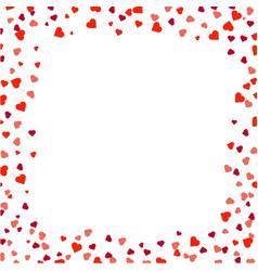 Hearts borders isolated vector