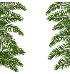 hello summer green palm leaf vector image