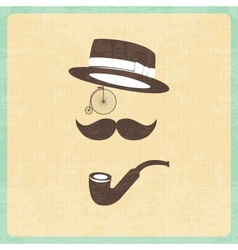Hipster character with elements vector image
