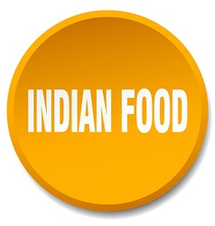 Indian food orange round flat isolated push button vector