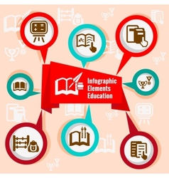 infographic concept education vector image vector image