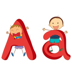 Kids in the letters series vector