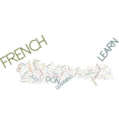 Learn french the easy way text background word vector