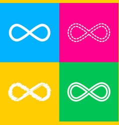 limitless symbol four styles of icon vector image