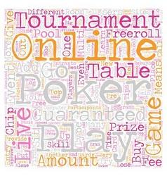 Live online poker 1 text background wordcloud vector