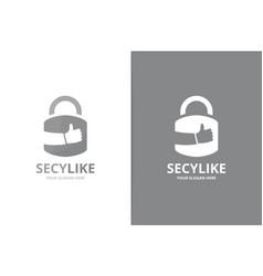 lock and like logo combination safe and vector image