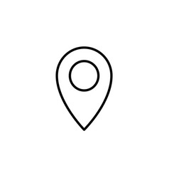 map pointer flat line icon black on white vector image