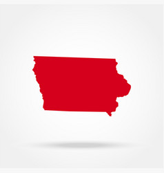 map us state iowa vector image
