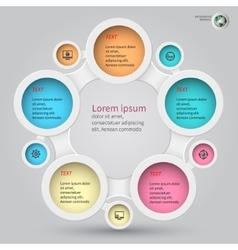 Metaball infographics 1 vector
