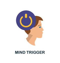 Mind trigger icon simple element from personality vector