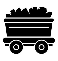 Mine cart icon simple style vector