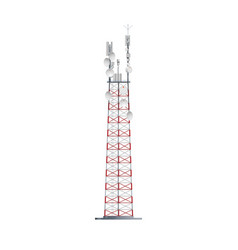Mobile telecommunication tower network technology vector