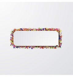 modern bubble speech with confetti on white vector image vector image