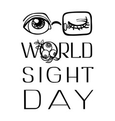 National sight day concept background simple vector
