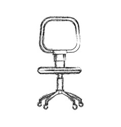 office chair work style image sketch vector image