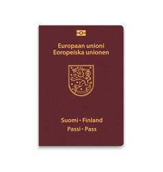 Passport finland vector