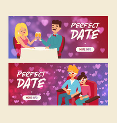 perfect date set banners vector image