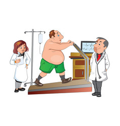 physical checkup vector image