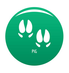 pig step icon green vector image