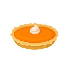 pumpkin pie traditional thanksgiving food vector image