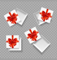 realistic detailed 3d empty boxes set vector image