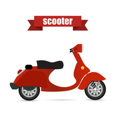 scooter realistic vector image