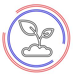 Seedling icon vector