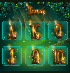 set of different letters for game user interface vector image
