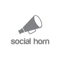 social horn concept design template vector image
