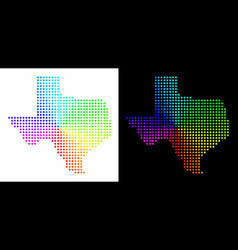 Spectral pixelated texas map vector