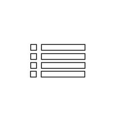 stroke menu icon vector image