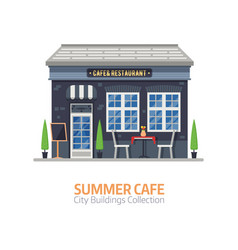 Summer cafe building vector