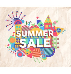 Summer sale quote poster design vector image