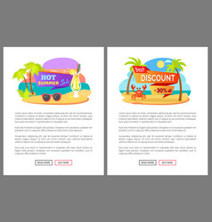 Summertime webpage hot sale and discount vector